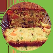 Cake aux légumes MON PANIER SANS GLUTEN