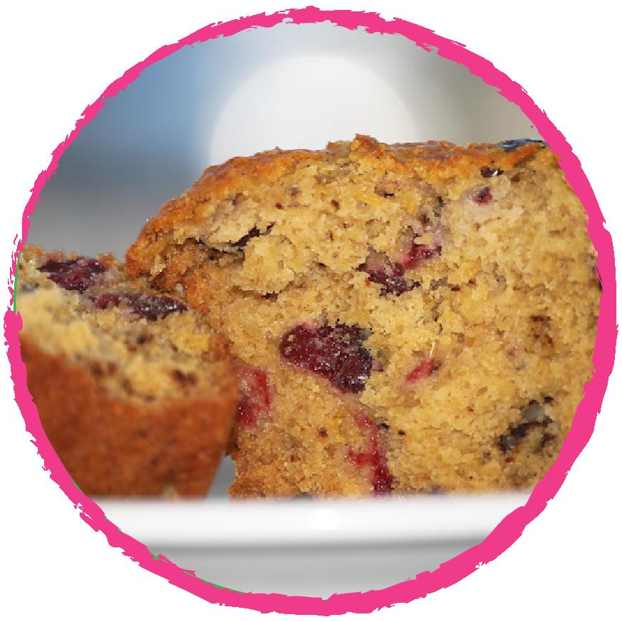 Cake aux cranberries MON PANIER SANS GLUTEN
