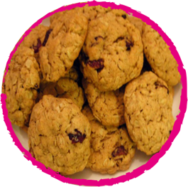 Cookies aux quinoa et cranberries