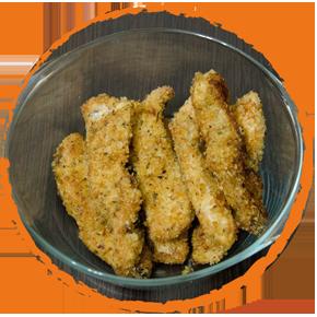 Filets de poulet panés aux flocons de pomme de terre