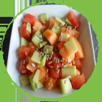 Salade d'été aux graines de tournesol MON PANIER SANS GLUTEN