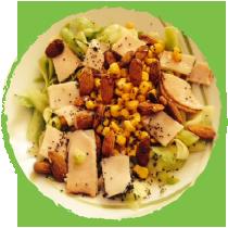Salade de courgettes aux amandes et aux graines de chia MON PANIER SANS GLUTEN