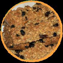 Barres aux flocons de quinoa et raisins MON PANIER SANS GLUTEN