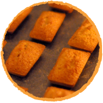 financiers à l'orange confite mon panier sans gluten