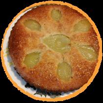 gateau poire amande sans gluten