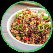 Salade de Quinoa sauce TAMARI MON PANIER SANS GLUTEN