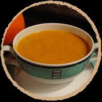 soupe potiron amande marron mon panier sans gluten