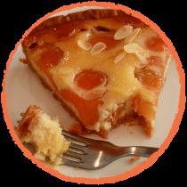 Tarte abricot caramel au beurre salé MON PANIER SANS GLUTEN