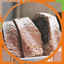 Gâteau à la farine de souchet et châtaigne