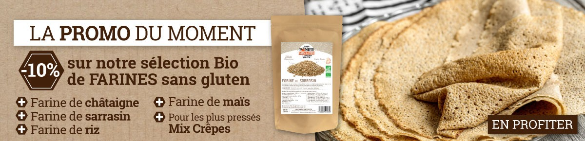 Promotion sur nos farines sans gluten